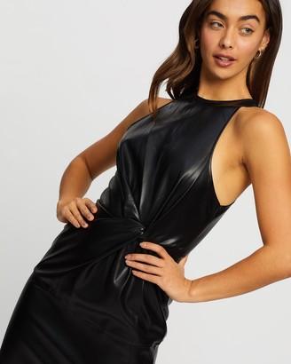 Missguided PU Twist Front Sleeveless Mini Dress