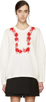 Giambattista Valli White and Red Floral Sweatshirt