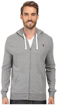 U.S. Polo Assn. Slim Fit Solid French Terry Hooded Jacket