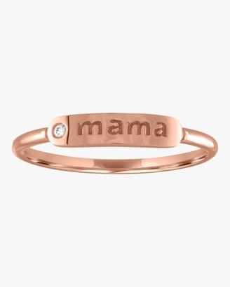 story. My Mama Skinny Signet Diamond Mantra Ring