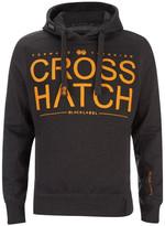 Crosshatch Men's Sevcon Rib Detail Hoody - Charcoal Marl