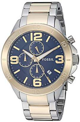 Fossil Men's Modern Century Quartz Watch with Stainless-Steel-Plated Strap