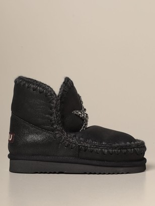 Mou Eskimo 18 Ankle Boots With Jeweled Star