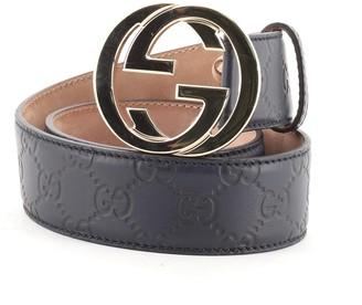 Gucci Interlocking G Belt Guccissima Leather Wide 65