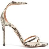 Aquazzura Purist 105 Python-effect Leather Sandals - Womens - Python