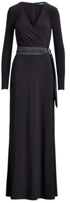 Ralph Lauren Wrap-Style Jersey Gown