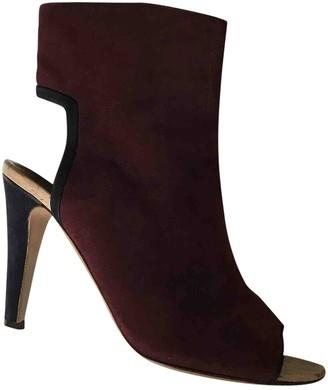 Michel Vivien Burgundy Suede Ankle boots