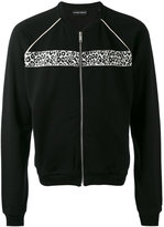 Alexander McQueen bomber-style cardigan - men - Cotton/Polyester/Viscose - S