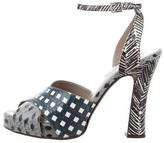 Marc Jacobs Snakeskin Geometric Sandals