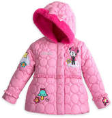 Disney Minnie Mouse Quilted Puffer Jacket for Girls - Personalizable