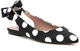 Betsey Johnson Ann Bow Back Polka Dot Flats