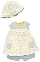 Offspring Girls' Lemon Top, Shorts & Hat Set - Baby