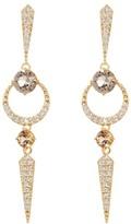 Nadri Gwen Linear Crystal Pave Drop Earrings