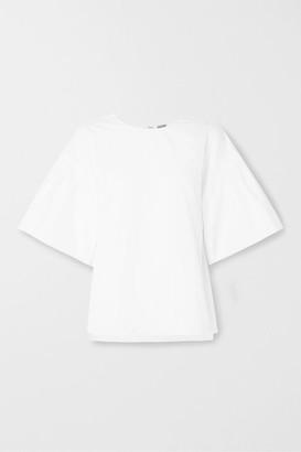 ADAM by Adam Lippes Cotton-poplin Top - White
