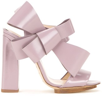 DELPOZO oversized bow sandals