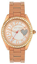 Betsey Johnson Bling Bling Time Crystal Bezel Stainless Steel Bracelet Boyfriend Watch