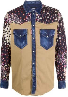 DSQUARED2 Dark Western Shirt