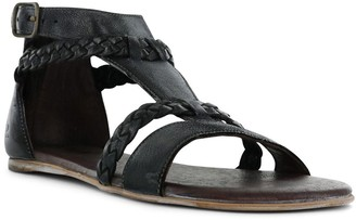 ROAN Leather Back-Zip Sandals - Posey