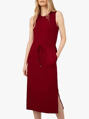 Warehouse Utility Midi Dress, Dark Red