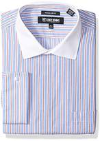 Stacy Adams Men's Big and Tall End Stripe Classic Fit Dress Shirt