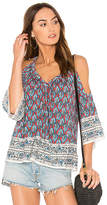 Ella Moss Bordeaux Tapestry Top in Brick. - size L (also in M,S,XS)