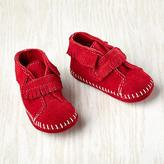 Minnetonka 0-3 mos. Velcro ® Front Strap Bootie (Red)