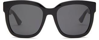 Gucci GG Square Acetate Sunglasses - Black