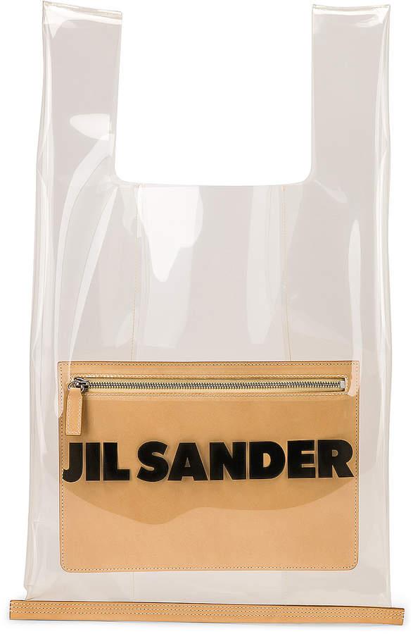 Jil Sander Logo Market Bag in Clear | FWRD