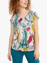 Seasalt Garden Gate Short Sleeve Abstract Print T-Shirt, Flower Marks Harbour