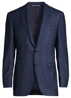 Canali Multi Plaid Wool Sportcoat