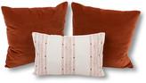 Kim Salmela Set of 3 Savannah Pillow Bundle - Rust/Natural