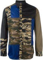 Diesel camouflage patchwork shirt