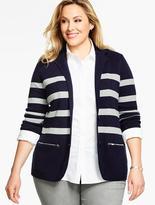 Talbots Sweater Blazer- Preppy Stripes