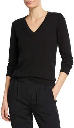 Brunello Cucinelli Cashmere V-Neck Sweater with Monili Detail