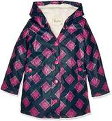 Hatley Girl's Splash Jacket-Sherpa Lined Raincoat