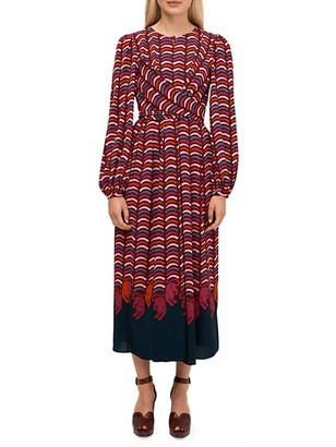 Kate Spade Wild-Print Midi Dress