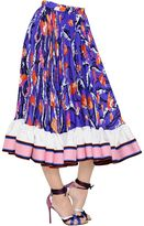 Emilio Pucci Printed Georgette Gathered Skirt