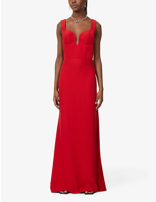 Alexander McQueen Eve sleeveless crepe maxi dress