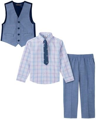 Van Heusen Toddler Boy 4-Piece Chambray Slub Vest Set