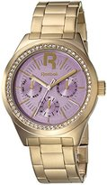 Reebok Classic R Women's Quartz Watch with Purple Dial Analogue Display and Gold Stainless Steel Gold Plated Bracelet RC-CDD-L5-S2S2-Q2