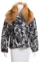 Christopher Kane Fur-Trimmed Camouflage Jacket