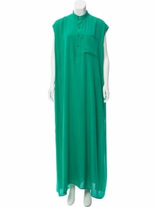 Balenciaga 2017 Maxi Dress Green