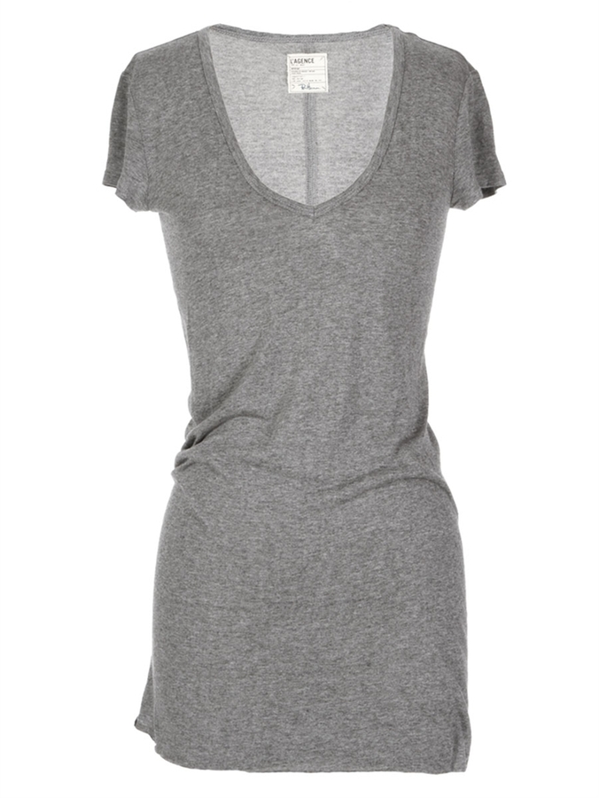L'Agence L'At For RON HERMAN Long V-Neck Tee