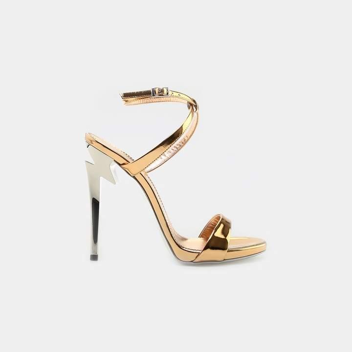 Giuseppe Zanotti Metallic Ankle Strap Sandal