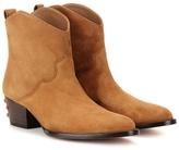 Aquazzura Cowboy 45 Suede Boots