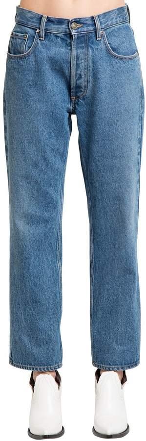 Maison Margiela Vintage Effect Cotton Denim Jeans
