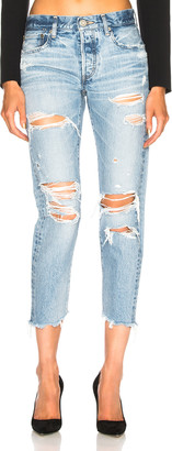 Moussy Creston Tapered Skinny in Light Blue | FWRD