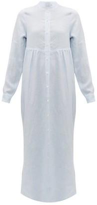 Gioia Bini Emma Striped Linen Shirtdress - Womens - Blue Stripe