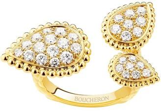 Boucheron 18kt yellow gold diamond Serpent Boheme ring
