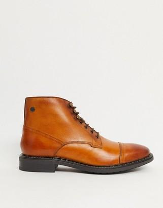 Base London conrad toe-cap boots in tan leather